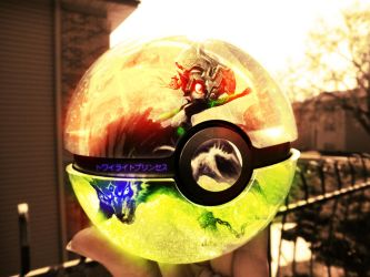 The Pokeball of Midna and Wolf link by wazzy88