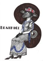 Beatrice-art-nouveau-Print by CopperSphinx