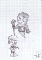 clockwork and lil' danny by Chibi-Danny