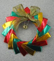 Holiday Wreath Broach by StormmeKinkade