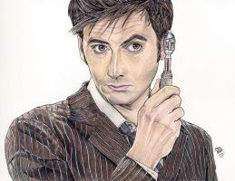 Doctor and sonic screwdriver by Karenscarlet