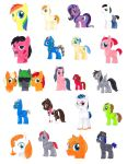 SL Comic Con 2013 Pony Commissions (OCs) by alamedyang