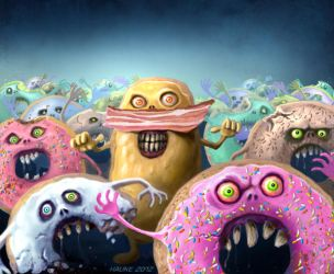 die you donut bastards by Vaghauk