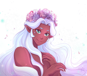 Crown of Flowers by candyfoxdraws