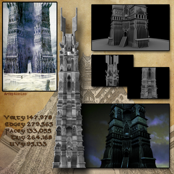 3D SKETCHBOOK - Orthanc with Close Ups by VR-Robotica