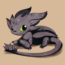 My little Toothless by Solar-Slash