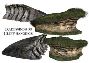 TW3D cliff with over hangings by TW3DSTOCK