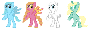 4 Species Adopts (Closed) by Daddys-Girl1997