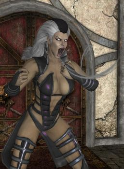 MK Romance Shao Kahn And Sindel by roodedude