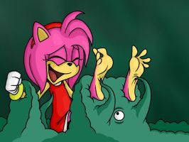 Amy Rose Tickled by Lord-Reckless