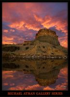 Hanksville Bluff reflection 2 by MichaelAtman