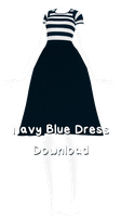 MMD - Navy Blue Dress Download + UPDATE by charlotte-rosewater