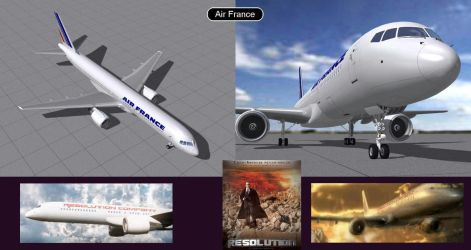 Boeing 757 Air France  by iconkid