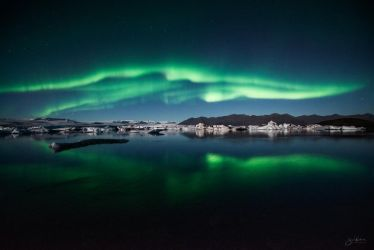 Aurora Over Jokulsarlon by BoholmPhotography