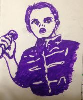 Gerard Way in Purple  by swiftcross