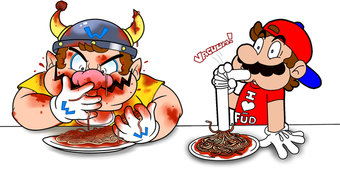 Spaghetti Eating Contest by YoshiMan1118