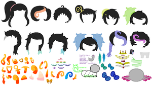 Hair sprites (F2U) by TheMamaBurrito