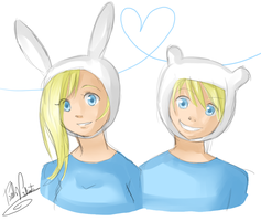 Fionna and Finn by Nasuki100
