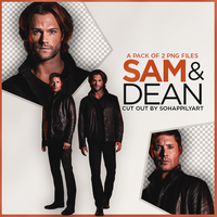 Sam and Dean PNG Pack 007 by sohappilyart
