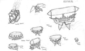 Airship Concept Art by DWestmoore