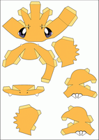 Charmander Papercraft Part 1 by Kira759