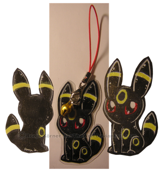 Umbreon Strap commish by RonTheWolf