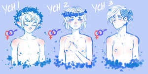 [CLOSE] YCH : Flowers pack by NeroKim