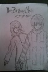Happy B-day Mello by kamcd711