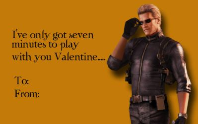 Tacky RE Valentines-Albert Wesker 1 by Isobel-Theroux