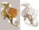 a different type of dragon tattoo by BrianKesinger