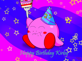 Kirby's 25th birthday by RichardtheDarkBoy29