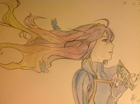 Lucina Watercolor by scarletwilight