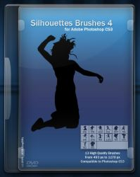 Silhouettes Brushes IV by King-Billy