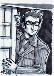 10th Doctor Sketchcard by stratosmacca