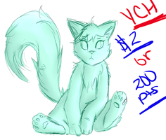 Cat Full Color YCH 2$ or 200 points OPEN by shotabunnyfairy