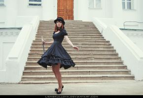 STOCK - Dancing Gothic Lolitha by LienSkullova