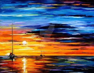 Far And Away by Leonid Afremov by Leonidafremov