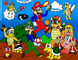 Super Mario Bros. 30th Anniversary Tribute by CaseyDecker