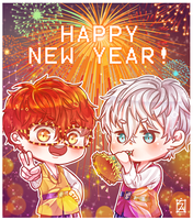 Mystic Messenger: HAPPY 2018! by Soverrein