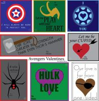 Super Lame Avengers Valentines by AlyOh
