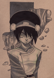 Toph the Earth Bender by BlackInfinity666