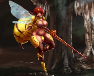 Tales of Androgyny - Futa Wasp by Majalistic