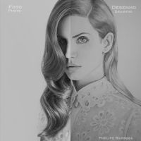 Lana Del Rey - Drawing and photo by phelipebf