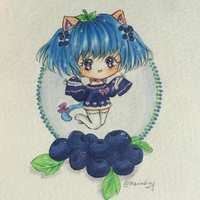 :AT: Yana the Blueberry Cobbler Kitten by Merindity