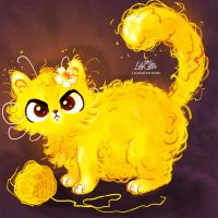 Curly Cat by LilaCattis