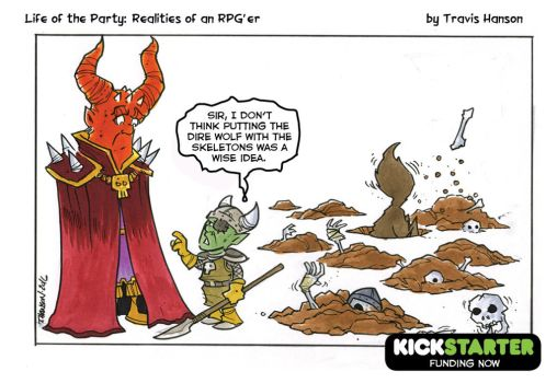 Evil overload issues. RPG Comic by travisJhanson
