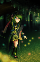 Saria in the Woods by Hikolol35