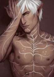 Topless Fenris by PandaleonSaa