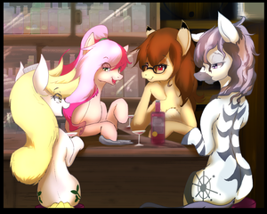 Midnight talk at Cheers' by SakuraCheetah