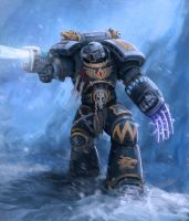Grey Hunter of Space Wolves by sid-vlad